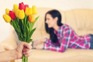 女性に花束を